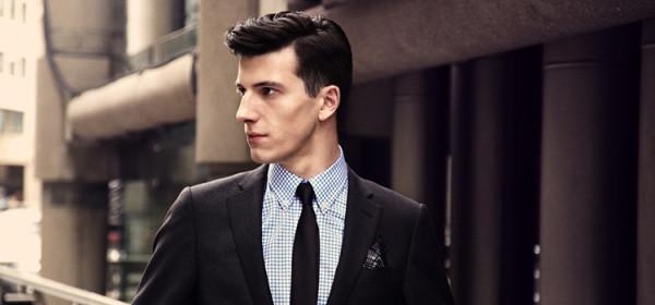 elegancki meżczyzna garnitur model