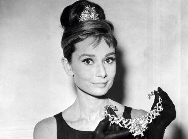 Audrey Hepburn z diademem