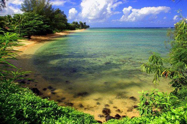 plaża Anini w Kauai- w na hawajach