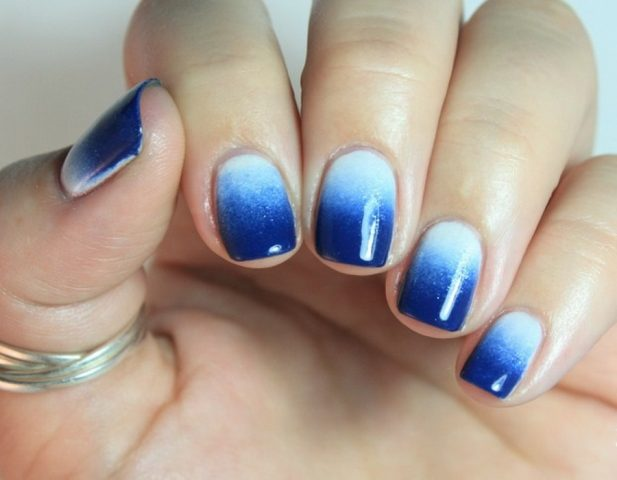 kompletny manicure ombre