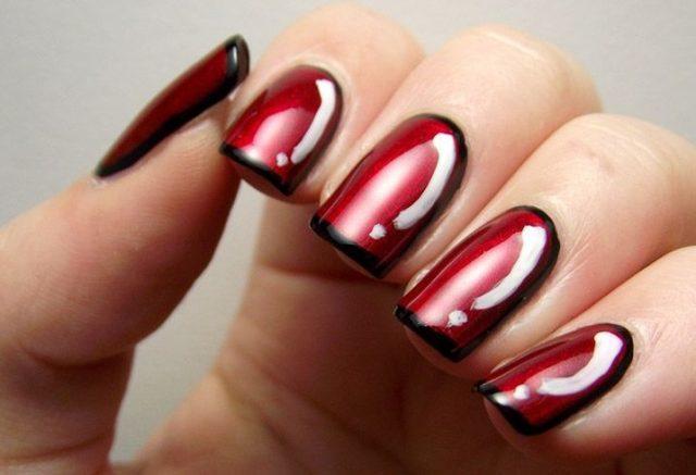 paznokcie-ombre-czarno-czerwone-3