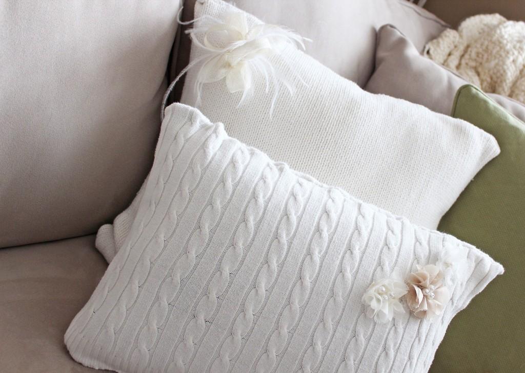 poduszki ze swtrów starych