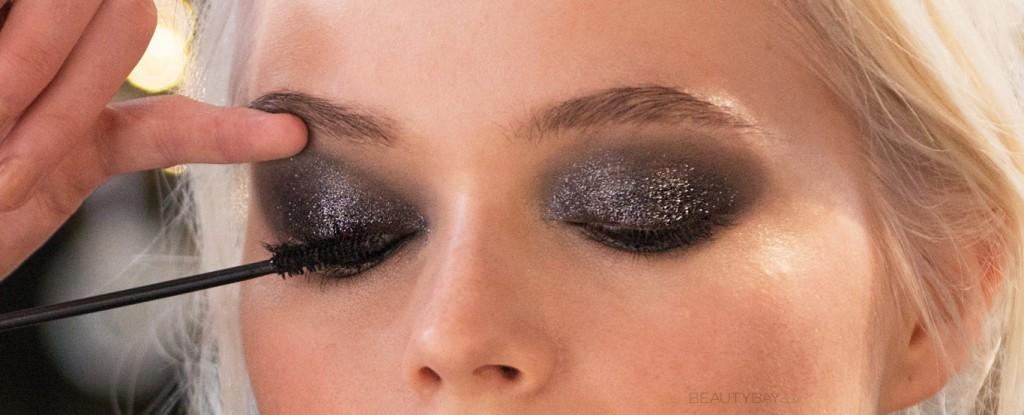 brokat na rzęsach makijarz