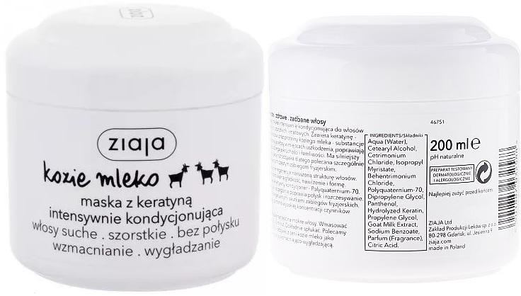 ZIAJA-KOZIE-MLEKO-Maska-intensywnie-kondycjonujaca-z-keratyna-do-wlosow-suchych