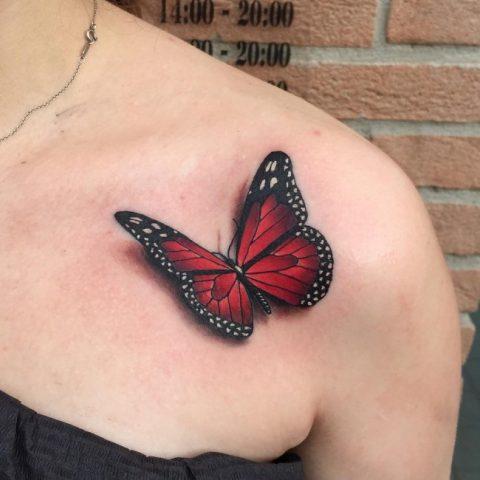 tatuaz-motylek