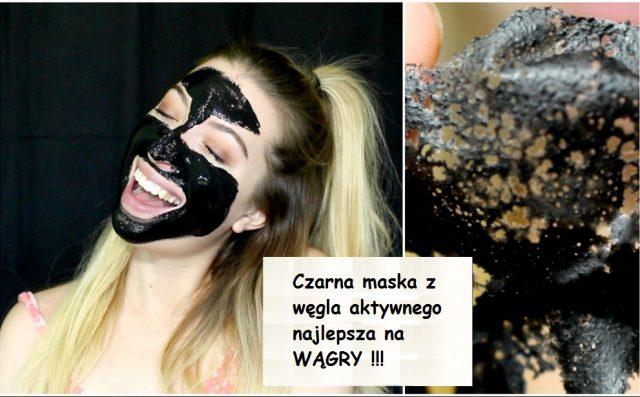 czarna-maska-na-wągry-z-węgla-aktywnego