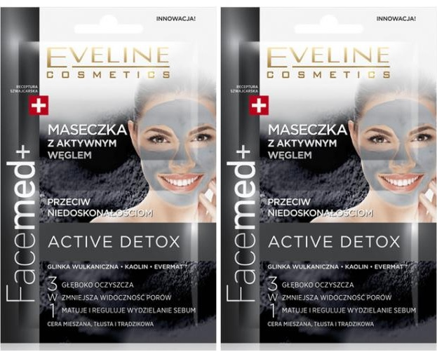 Eveline-Facemed-Maseczka-Duo-z-aktywnym-weglem-przeciw-niedoskonalosciom