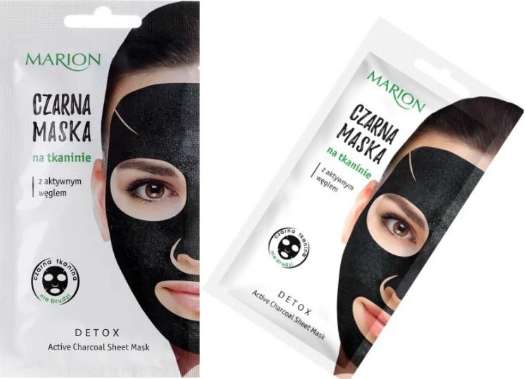 Marion-czarna-maska-na-tkaninie-z-aktywnym-weglem
