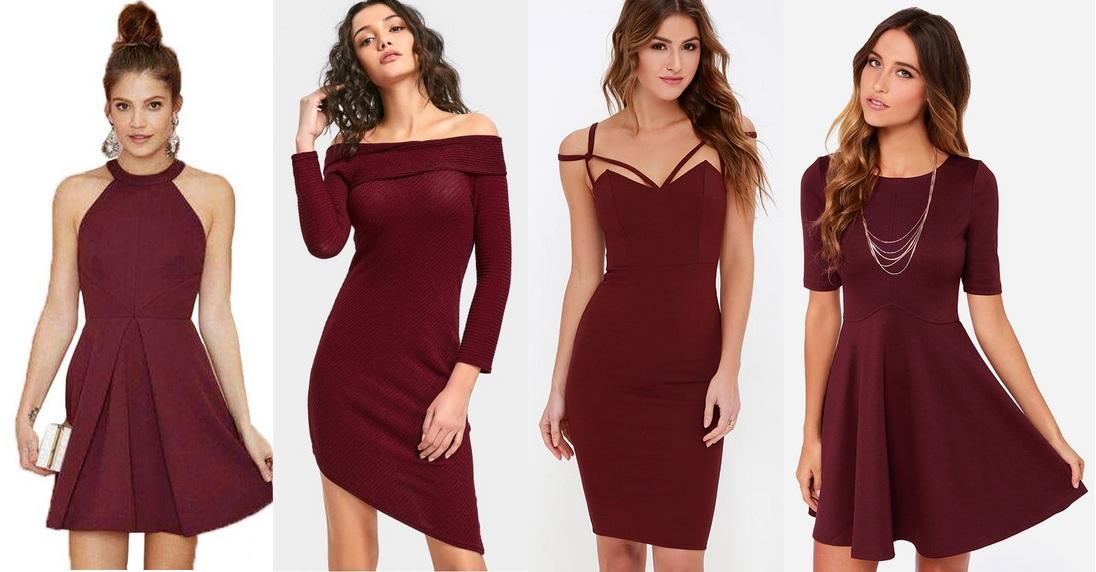 bordowe-sukienki