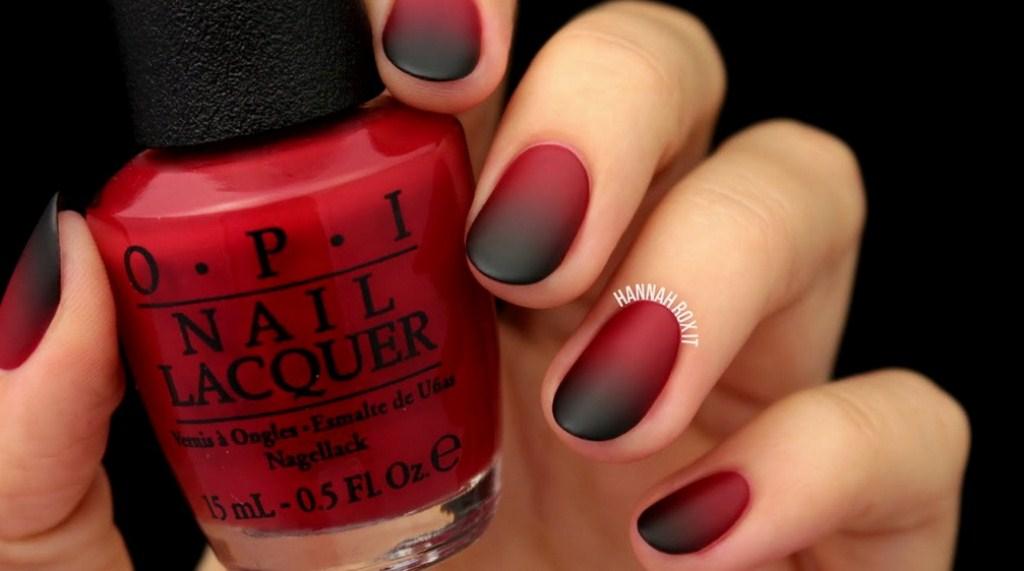 czerwono-czarne-ombre-paznokcie-do-czerwonej-sukienki