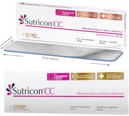 SUTRICON-CC-Silikonowe-plastry-na-blizny-z-witamina-E