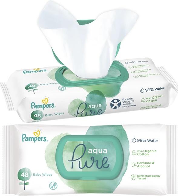 Pampers-Aqua-Pure-chusteczki-pielęgnacyjne