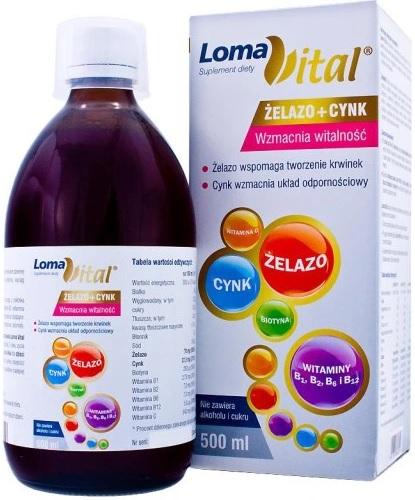 witaminy-dla-dziecka-Loma-Vital-żelazo-cynk-płyn